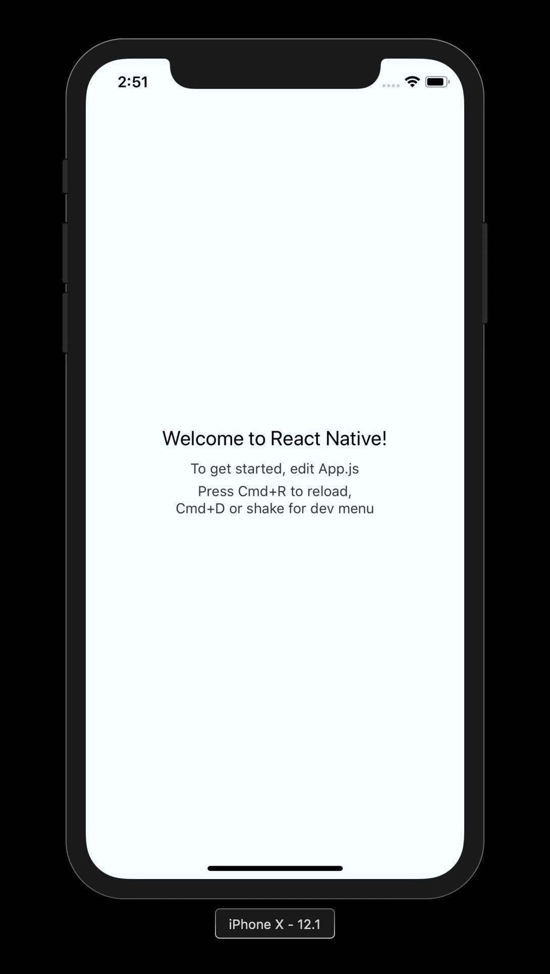 react native on iphone simulator