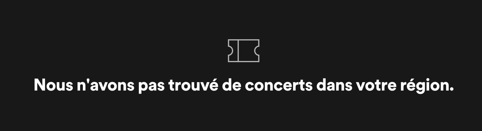 aucun concert